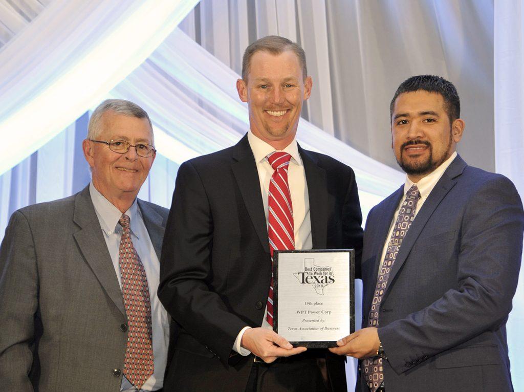 Byron Baber and Roger Gardea receiving award for WPT in Austin, Texas