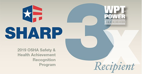 WPT Power earns SHARP recognition