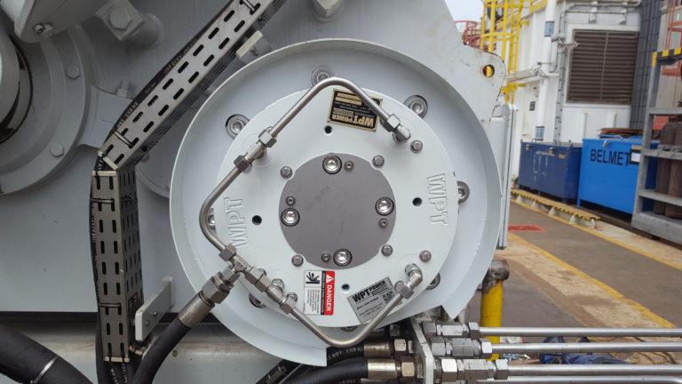 Low Inertia brake on mooring winch
