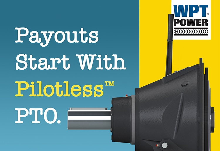 pilotless mechanical PTO for industrial applications