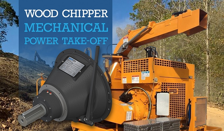mechanical PTO used on wood chipper