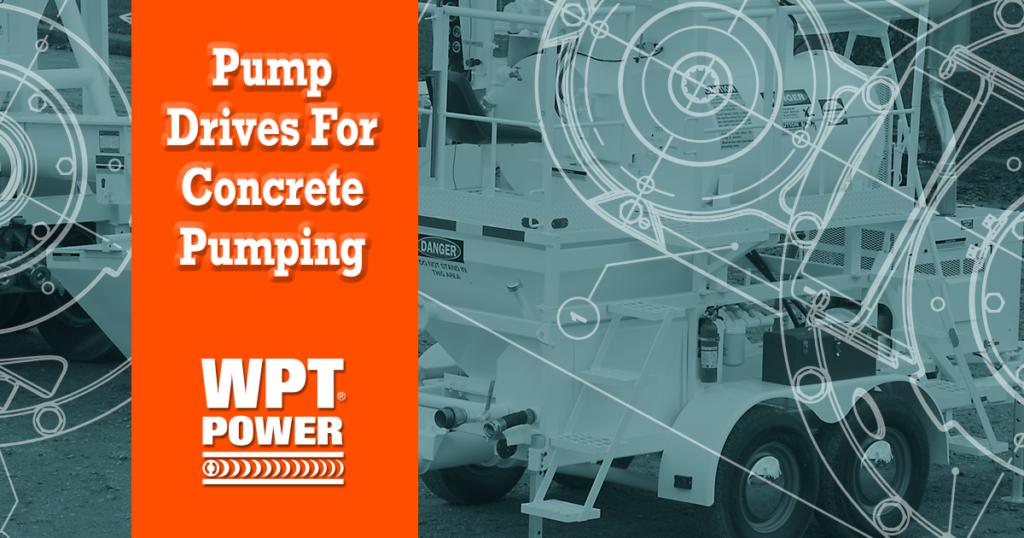 Pump drive concrete mixer